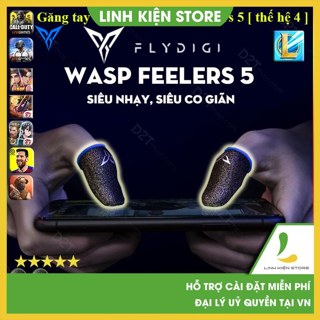 Găng tay chơi game Flydigi Feelers 5 cảm ứng nhạy hơn, chơi game PUBG, Liên quân, chống mồ hôi, cực nhạy