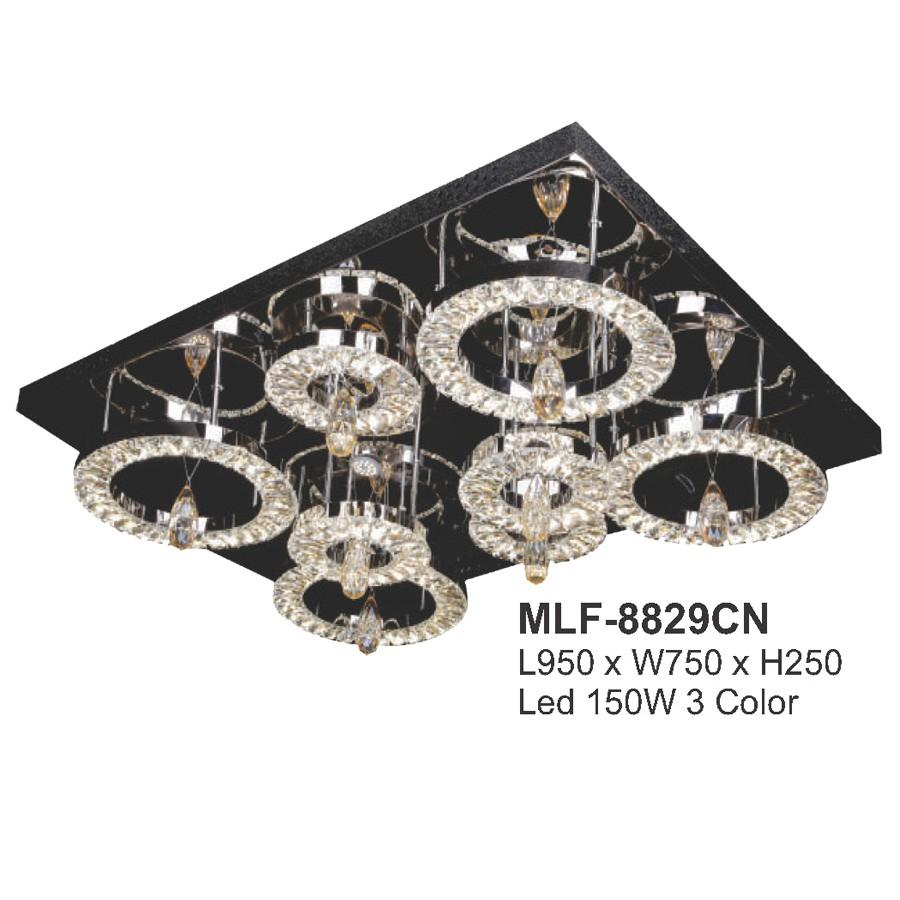 Đèn mâm LED ốp trần - pha lê trang trí VKT-MLF-8