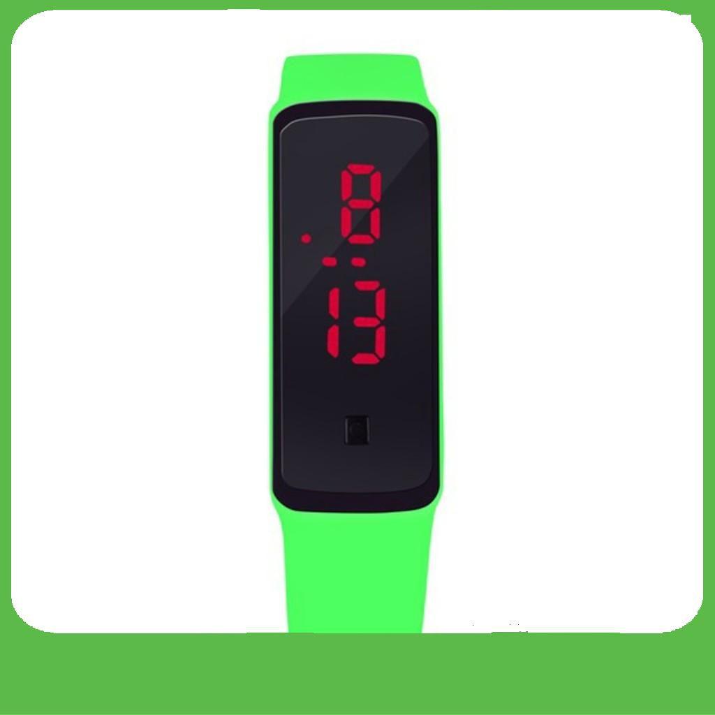 [GIÁ SỐC]  Đồng hồ LED Unisex dây silicone GEX (Xanh lá) -DC1281XLA
