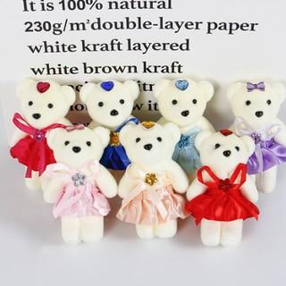 Combo 10 gấu xốp trang trí hoa gấu bông