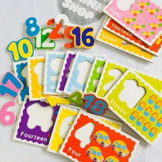 Bộ thẻ học số ghép số cho bé
