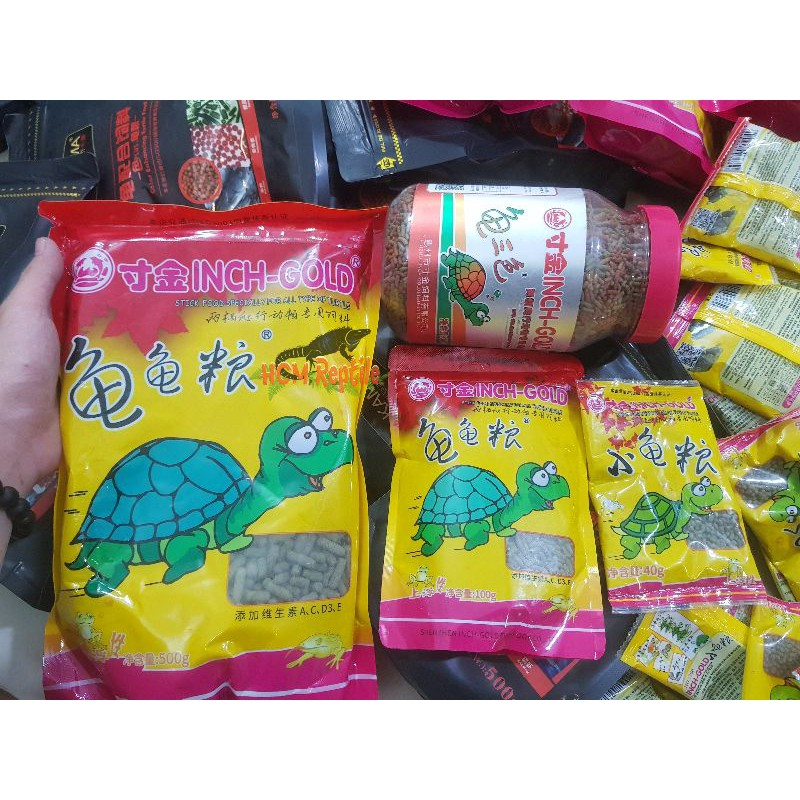 Inch Gold - Thức ăn cho rùa nước (gói 40gram và 100gram) - 100gram