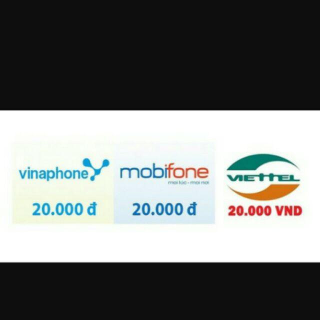 Thẻ điện thoại viettel Mobil Vina 20k