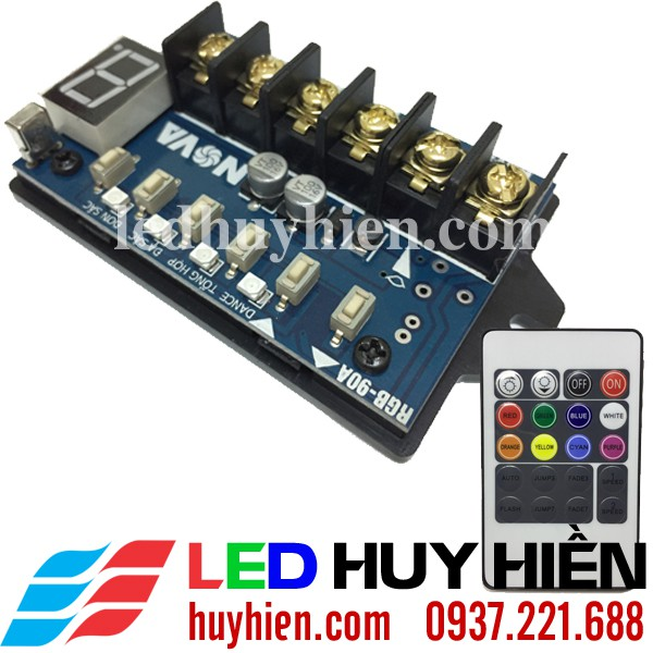 Mạch điều khiển Led 7 màu RGB 6A, 24A, 45A, 90A (Cpu Led rgb)