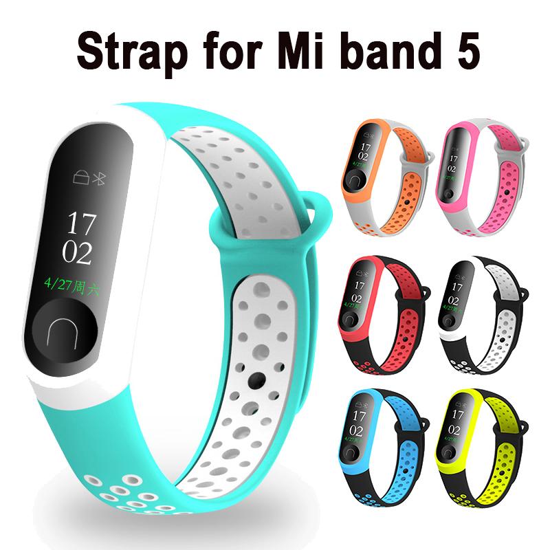 Dây Đeo Thay Thế Chất Liệu Tpu Silicon Mềm Cho Xiaomi Mi Band 5 4 3 Miband 5 4
