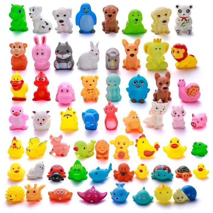 SET 20 thú thả bồn tắm nhiều hình dễ thương có gắn còi huytuantoy