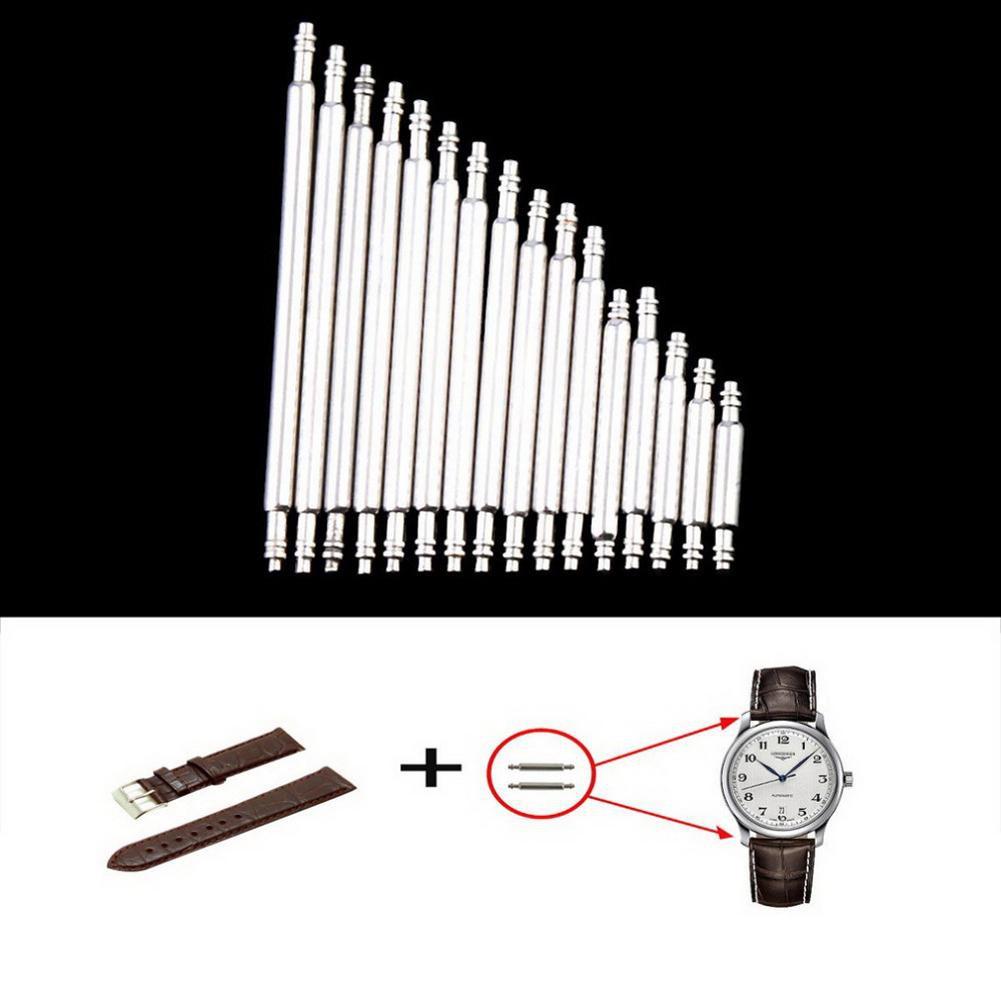 DECEBLE 360pcs 8-25mm Watchband Stainless Steel Spring Bars Repair Strap Link Pins