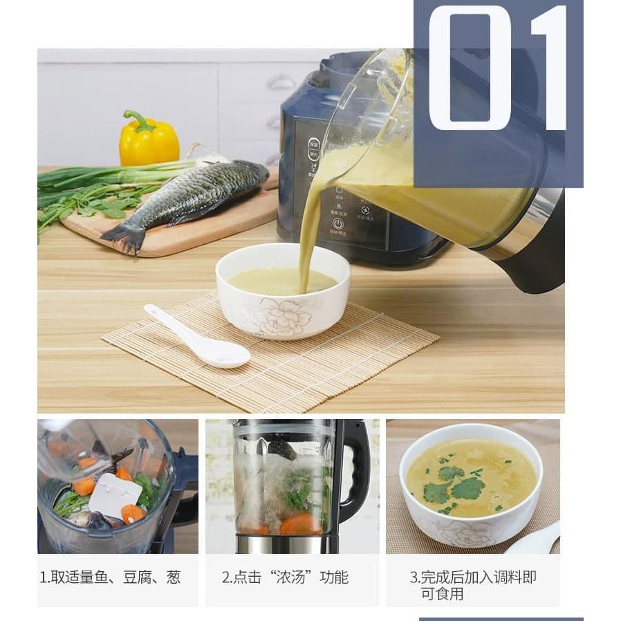 Máy xay thực phẩm nấu sữa hạt Yoice 1.750L cối thủy tinh chịu lực, chịu nhiệt cao cấp - BẢO HÀNH 1 NĂM