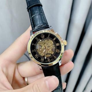 Đồng hồ Nam Rolex cơ, dây da mềm, bảo hành 12 tháng