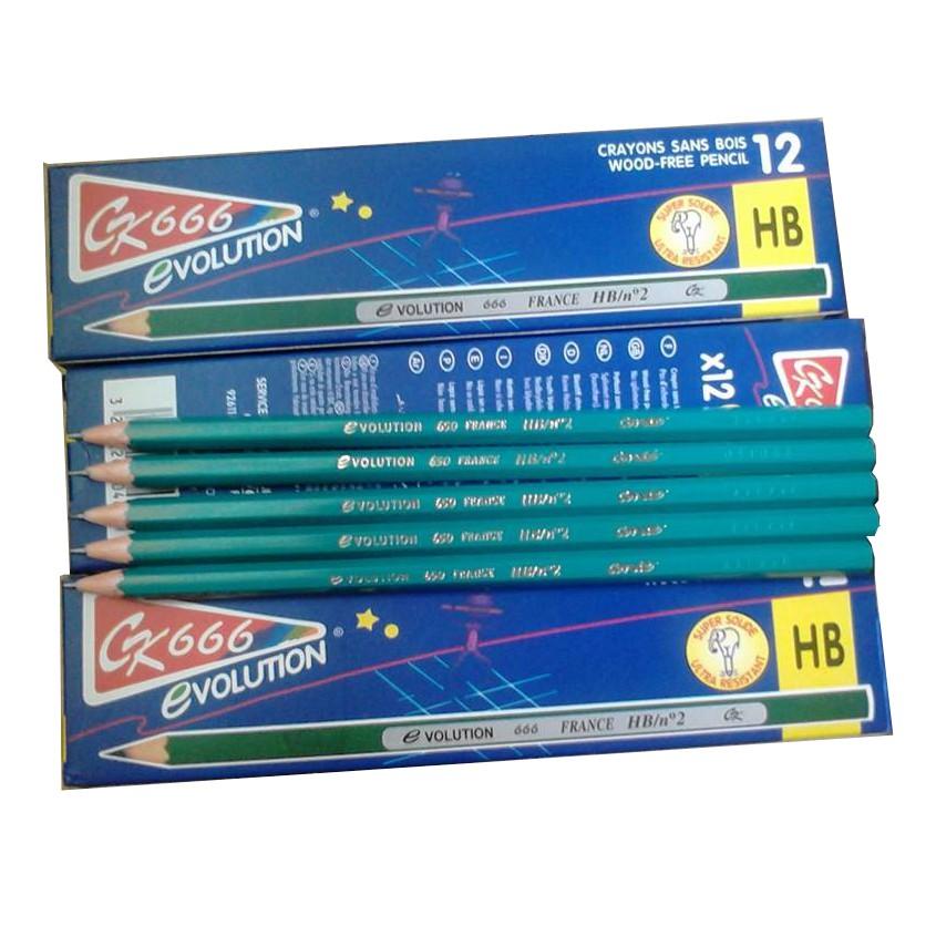 Bút chì pháp không tẩy 2B+HB CHIPHAP2B+HB