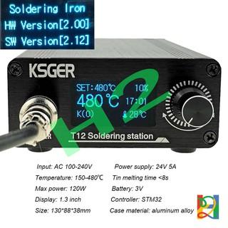 Trạm hàn T12 KSGER STM32 Ver2.12 vỏ sắt màn hình OLED 1.3Inch (Input 220VAC)