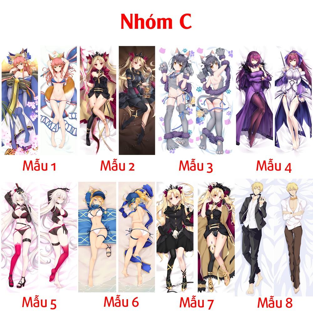 {48 mẫu Dakimakura}Vỏ Gối ôm Anime Fate Grand Order Fate stay night siêu to dài 1,5mx50cm hàng có sẵn đặt theo yêu cầu