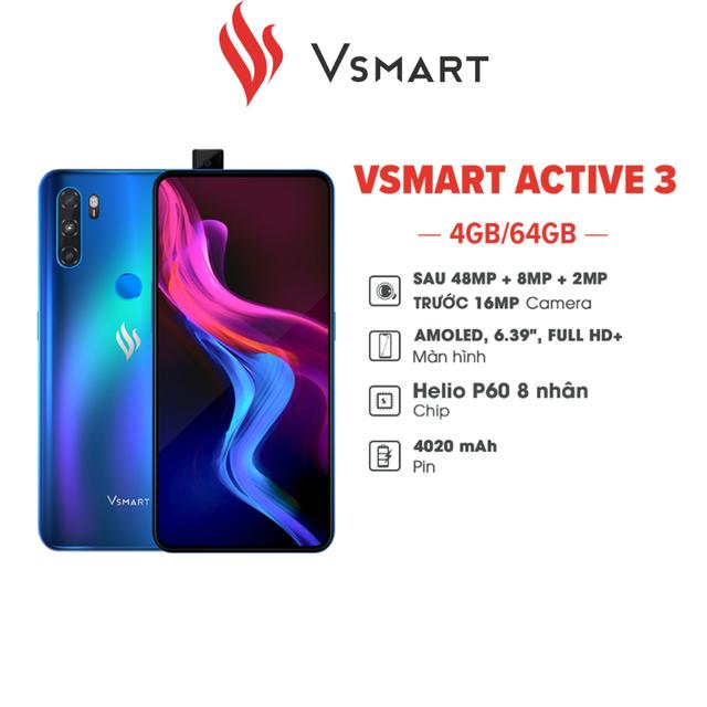 Điện thoại Vsmart Active 3 (4GB/64GB) - Hàng chính hãng
