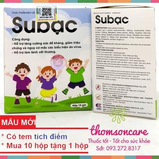 Cốm Subac cho bé hỗ trợ tăng sức đề kháng - mua 10 tặng 1 bằng tem tích điểm Chính hãng thumbnail