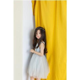 Đầm công chúa phối lưới- Đầm bé gái
