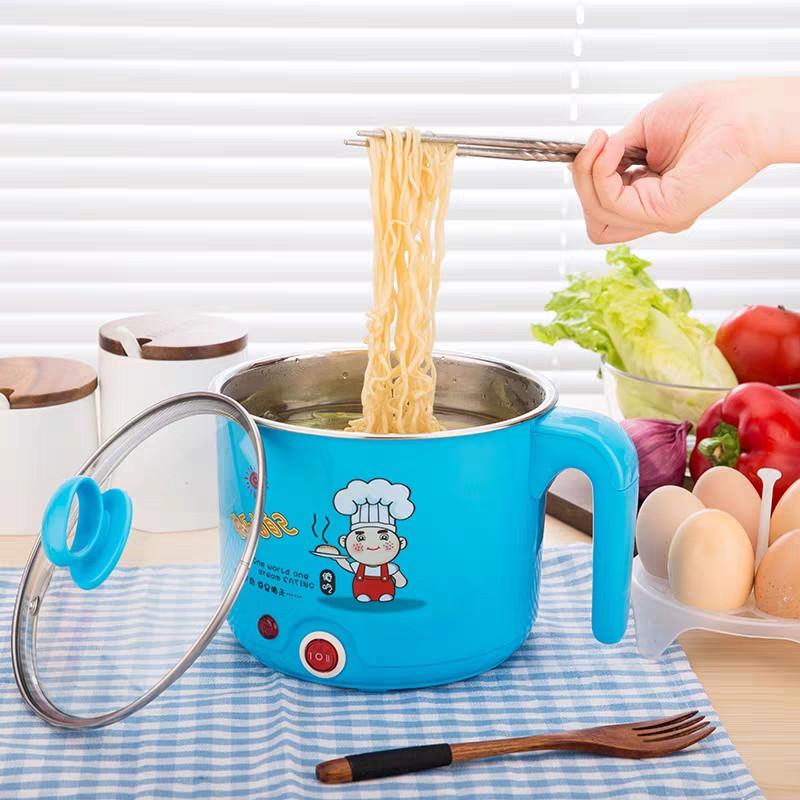(SIZE LỚN) CA NẤU MÌ KIÊM NỒI LẨU MINI CÓ TẶNG KÈM XỬNG HẤP TRỨNG - Nồi nấu mì nồi lẩu mini tiện lợi đa năng T3B3