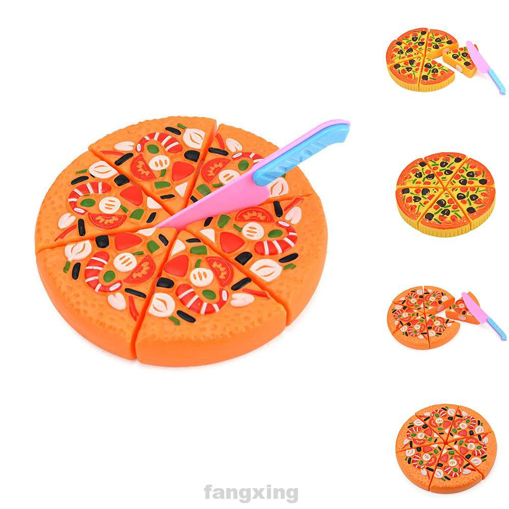 Pizza Children Baby Cutting Plastic Pretend Play Educational
