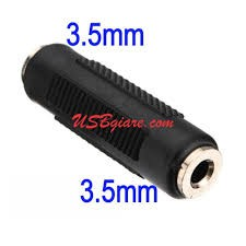 Đầu Nối Jack Audio 3.5mm 2 Đầu Cái Giá chỉ 7.500₫