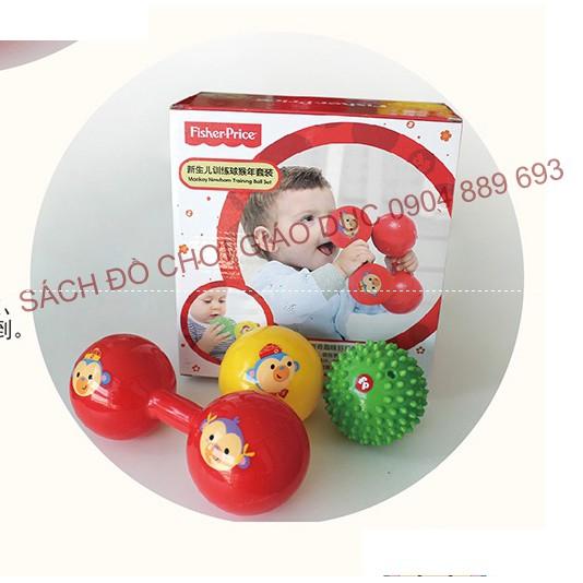 Bộ 3 bóng an toàn Fisher Price cho trẻ sơ sinh - New born training ball set