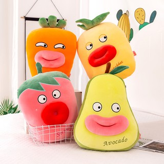 Funny fruit and vegetable pillow plush toy creative cushion avocado long pillow bed sleeping gift girl