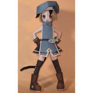 """Mô hình giấy anime girl Neko-""""biến thể thế hệ thứ 2"""""""