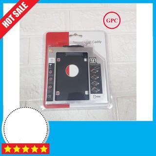 [ZIN] Caddy Bay Mỏng 9.5mm Chuẩn SATA Dùng Để Lắp Thêm 1 Ổ Cứng / SSD Qua Khay CD/DVD