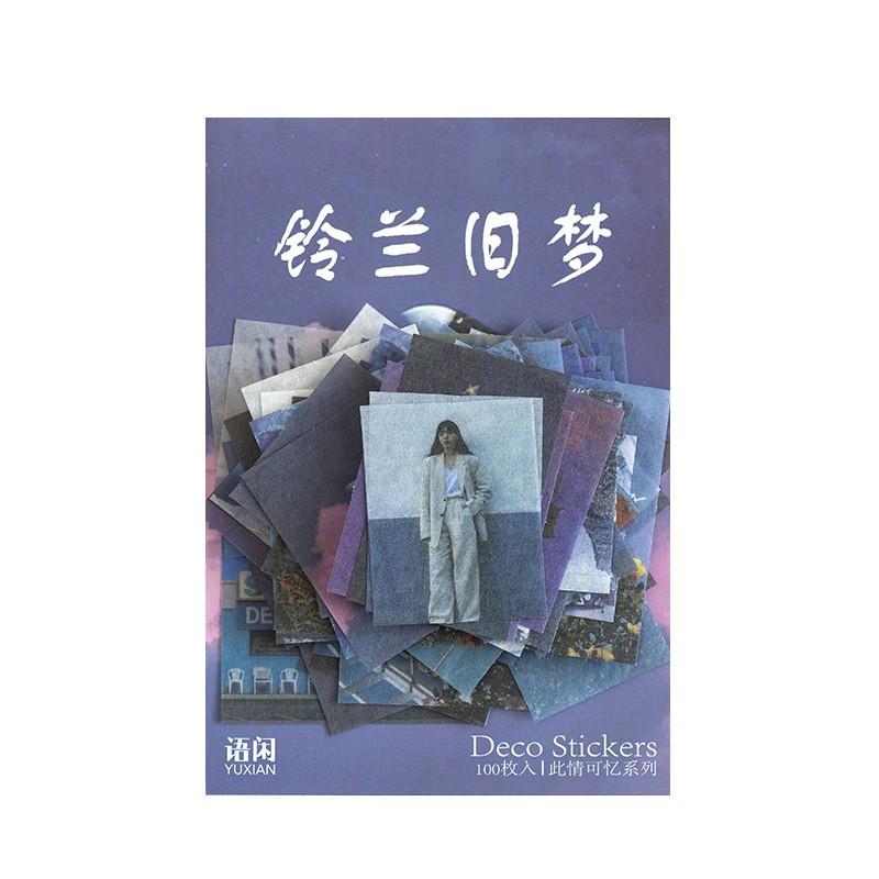100 miếng dán trang trí sổ tay vali phong cách Nhật Bản