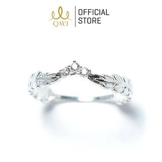 Nhẫn bạc nữ 925 cao cấp QMJ Nguyệt quế vương miện nạm đá sang trọng - Q003