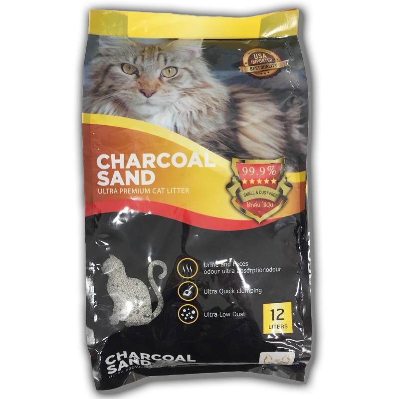 ชาร์โคล แซนด์ ทรายแมว อัลตร้าพรีเมียม 12 ลิตร