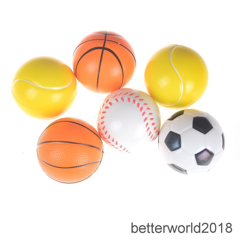 [BEW] 7cm PU Sponge anti stress ball surprise bouncy toy slow rising football kid gift [OL]