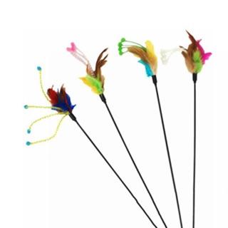 Cần treo nhiều màu bằng nhựa hình nụ hoa. Đồ chơi cho chó mèo