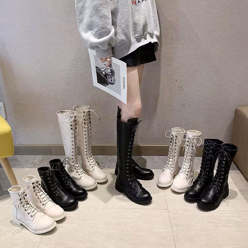 MIN_ [  - CÓ ẢNH THẬT ] Boots cao cổ da mềm ba đ