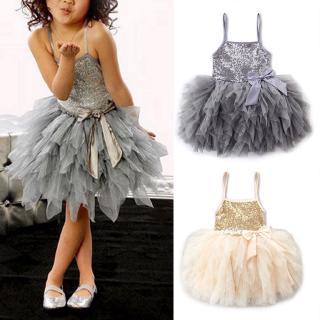 Đầm xoè Tulle sát nách phong cách công chúa cho bé gái