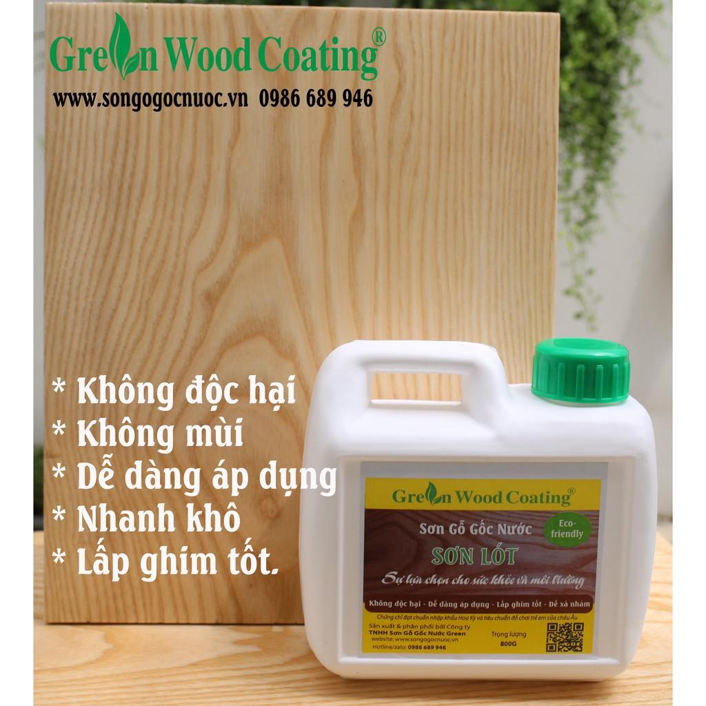 Sơn Gỗ Gốc Nước Green - Sơn lót lấp ghim, làm mịn bề mặt gỗ