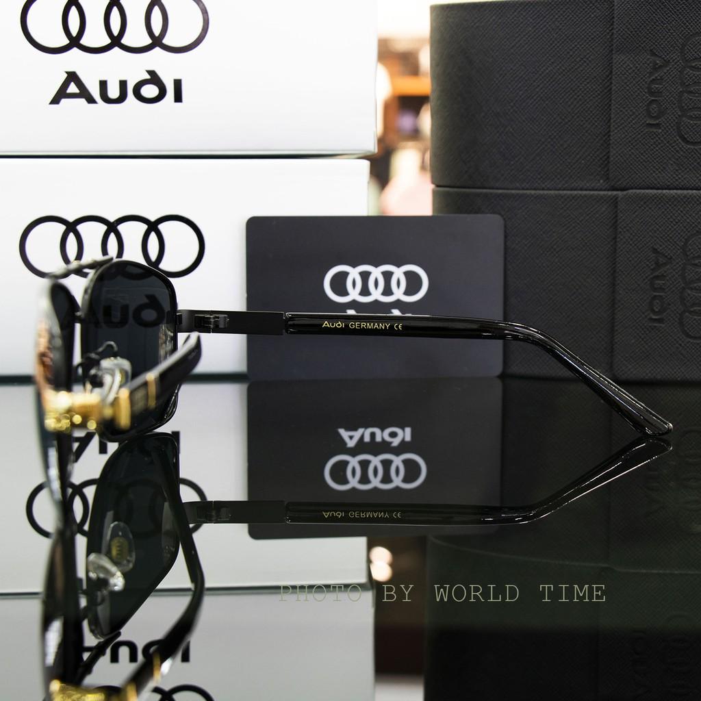 Kính mát nam AUDI A002 Đen Vàng tròng Polazied, chống lóa,Full box ,thời trang cao cấp bảo hành 12 Tháng