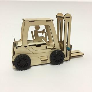 Đồ chơi STEM lắp ghép bằng gỗ-Xe nâng hàng-made in VN 100% thumbnail