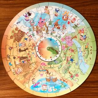 Set 2in1 – Ghép hình puzzle – học Thời gian, Mùa trong năm.
