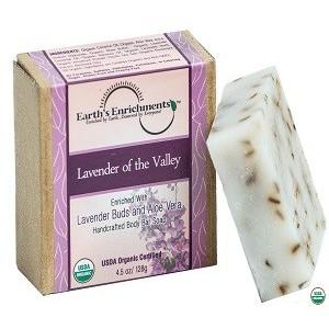 Xà phòng hữu cơ hương lavender hãng Earth