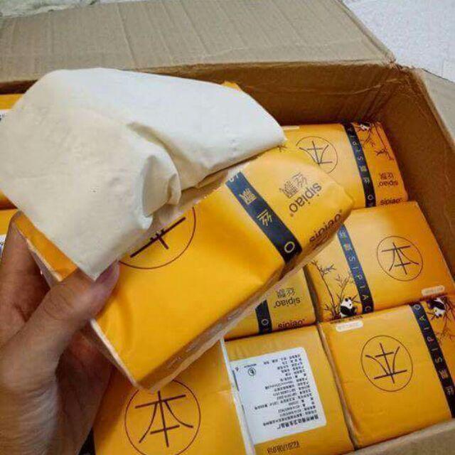 300 tờ giấy ăn than tre hàng nội địa Trung