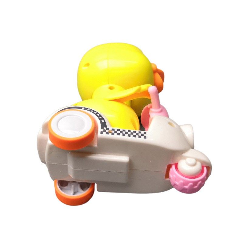 Press back force duck lingua stroller toys cartoon motorcycle toys
