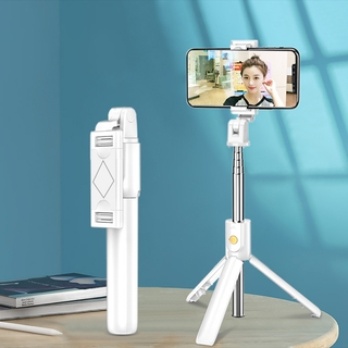 Mini Bluetooth Selfie Stick Tripod 3 In 1 Foldable Wireless Monopod Remote Control For Ios Android Pemegang Phone