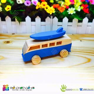 [FOLLOW 2B] Đồ chơi gỗ 100% Handmade Ô tô gỗ mô hình Wolkswagen