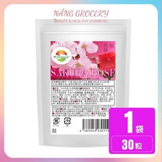 [Nội Địa Nhật] Viên Uống Thơm Cơ Thể Tinh Chất Hoa Sakura-Rose Nhật Bản thumbnail