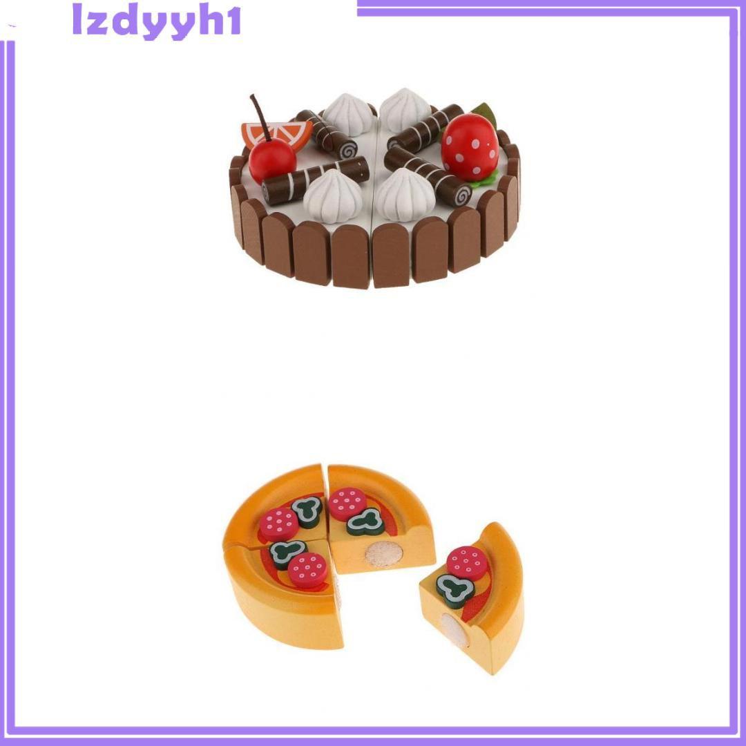 Set 2 Đồ Chơi Bánh Kem Mini Bằng Gỗ Có Nam Châm Cho Bé