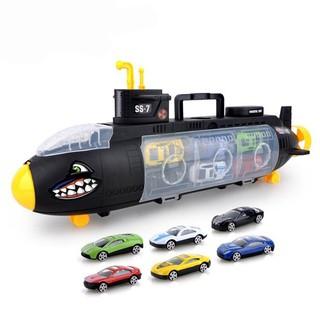 Tầu ngầm chở 6 xe ô tô đồ chơi cho bé