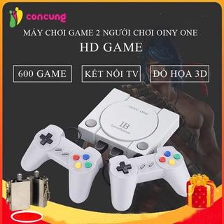 Máy chơi game cầm tay 4 nút cổng AV, Máy chơi game 2 người 4 nút 600 trò chơi không lặp trò cổ điển thumbnail