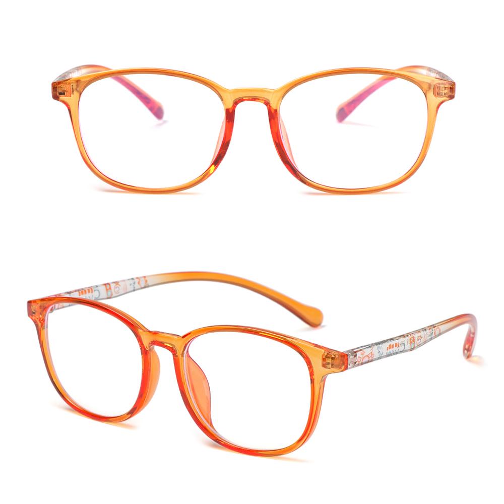 🍒ME🍒 Children Boys Girls Comfortable Eyeglasses Portable Ultra Light Frame Kids Glasses TR90 Online Classes Fashion Computer Eye Protection Anti-blue...