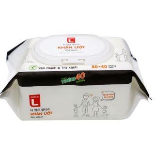 Combo 5 gói khăn ướt Lotte 120 tờ siêu tiết kiệm- Hàng chính hãng