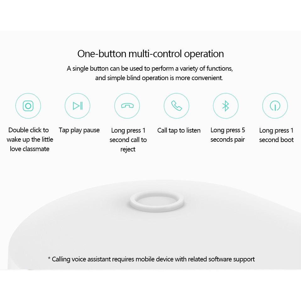 tai nghe nhét tai không dây bluetooth chống nước mini siêu nhẹ có mic Xiaomi