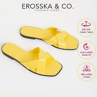 Dép nữ đế bệt thời trang Erosska - DE001 (Vàng)